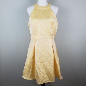 Disney Beauty and the Beast Gold Ruffle Back Dress